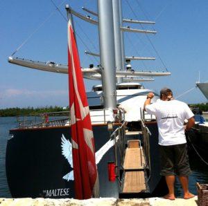 work on yacht